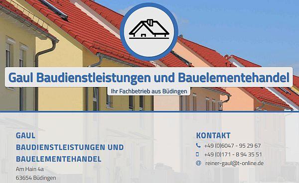 Gaul Baudienstleistungen und Bauelemetehandel